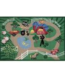 RugStudio presents Fun Rugs Fun Time Farm Roads FTQ-223 Multi Machine Woven, Good Quality Area Rug