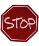 RugStudio presents Fun Rugs Fun Time Shape Stop Sign FTS-029 Multi Machine Woven, Good Quality Area Rug