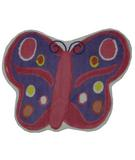 RugStudio presents Fun Rugs Fun Time Shape Butterfly FTS-064 Multi Machine Woven, Good Quality Area Rug