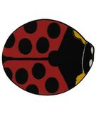 RugStudio presents Fun Rugs Fun Time Shape Red Lady Bug FTS-073 Multi Machine Woven, Good Quality Area Rug