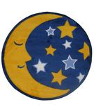 RugStudio presents Fun Rugs Fun Time Shape Moon & Stars FTS-123 Multi Machine Woven, Good Quality Area Rug