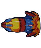 RugStudio presents Fun Rugs Fun Time Shape Rocket FTS-131 Multi Machine Woven, Good Quality Area Rug