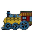 RugStudio presents Fun Rugs Fun Time Shape Train FTS-133 Multi Machine Woven, Good Quality Area Rug