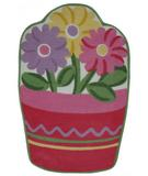 RugStudio presents Fun Rugs Fun Time Shape Flower Pot FTS-135 Multi Machine Woven, Good Quality Area Rug