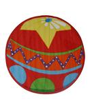 RugStudio presents Fun Rugs Fun Time Shape Circus Ball FTS-137 Multi Machine Woven, Good Quality Area Rug