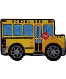 RugStudio presents Fun Rugs Fun Time Shape School Bus FTS-142 Multi Machine Woven, Good Quality Area Rug