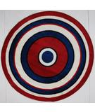 RugStudio presents Fun Rugs Fun Time Shape Concentric 2 FTS-150 Multi Machine Woven, Good Quality Area Rug