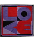 RugStudio presents Fun Rugs Fun Time Shape Love FTS-156 Multi Machine Woven, Good Quality Area Rug