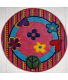 RugStudio presents Fun Rugs Fun Time Shape Peace Out FTS-180 Multi Machine Woven, Good Quality Area Rug