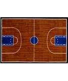 RugStudio presents Fun Rugs Fun Time Basketball Court GI-10 Multi Machine Woven, Good Quality Area Rug