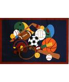 RugStudio presents Fun Rugs Fun Time Sports America GI-51 Multi Machine Woven, Good Quality Area Rug