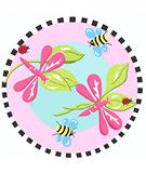 RugStudio presents Fun Rugs Jade Reynolds Pink Dragonfly JR-TSC-011 Multi Machine Woven, Good Quality Area Rug