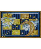 RugStudio presents Fun Rugs Jade Reynolds Celestial JR-TSC-156 Multi Machine Woven, Good Quality Area Rug