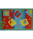 RugStudio presents Fun Rugs Jade Reynolds Beach Blanket JR-TSC-165 Multi Machine Woven, Good Quality Area Rug