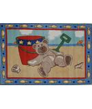RugStudio presents Fun Rugs Jade Reynolds Beach Bear JR-TSC-173 Multi Machine Woven, Good Quality Area Rug