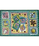 RugStudio presents Fun Rugs Jade Reynolds Building Blocks JR-TSC-189 Multi Machine Woven, Good Quality Area Rug