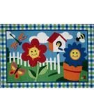 RugStudio presents Fun Rugs Olive Kids Happy Flowers OLK-001 Multi Machine Woven, Good Quality Area Rug