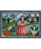 RugStudio presents Fun Rugs Olive Kids Happily Ever After OLK-004 Multi Machine Woven, Good Quality Area Rug