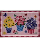 RugStudio presents Fun Rugs Olive Kids Blossoms & Butterflies OLK-014 Multi Machine Woven, Good Quality Area Rug