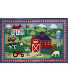 RugStudio presents Fun Rugs Olive Kids Country Farm OLK-016 Multi Machine Woven, Good Quality Area Rug