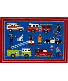 RugStudio presents Fun Rugs Olive Kids Heroes OLK-018 Multi Machine Woven, Good Quality Area Rug