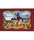 RugStudio presents Fun Rugs Olive Kids Ride 'Em OLK-021 Multi Machine Woven, Good Quality Area Rug