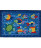 RugStudio presents Fun Rugs Olive Kids Somethin' Fishy OLK-023 Multi Machine Woven, Good Quality Area Rug