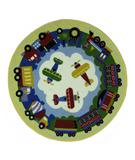 RugStudio presents Fun Rugs Olive Kids Round TPT OLKS-025 Multi Machine Woven, Good Quality Area Rug