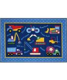 RugStudio presents Fun Rugs Olive Kids Under Construction OLK-026 Multi Machine Woven, Good Quality Area Rug
