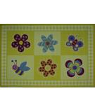 RugStudio presents Fun Rugs Olive Kids Flowerland OLK-028 Multi Machine Woven, Good Quality Area Rug