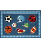 RugStudio presents Fun Rugs Olive Kids Go Team! OLK-029 Multi Machine Woven, Good Quality Area Rug