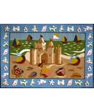 RugStudio presents Fun Rugs Olive Kids Sand Castle OLK-050 Multi Machine Woven, Good Quality Area Rug