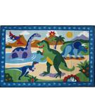 RugStudio presents Fun Rugs Olive Kids Dinosaurland OLK-052 Multi Machine Woven, Good Quality Area Rug