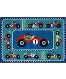 RugStudio presents Fun Rugs Olive Kids Vroom OLK-053 Multi Machine Woven, Good Quality Area Rug