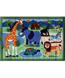 RugStudio presents Fun Rugs Olive Kids Wild Animals OLK-054 Multi Machine Woven, Good Quality Area Rug