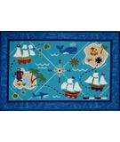 RugStudio presents Fun Rugs Olive Kids Pirates! OLK-055 Multi Machine Woven, Good Quality Area Rug