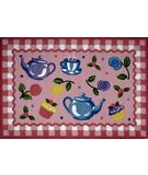 RugStudio presents Fun Rugs Olive Kids Tea Party OLK-056 Multi Machine Woven, Good Quality Area Rug