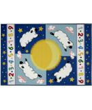 RugStudio presents Fun Rugs Olive Kids Sleepy Sheep OLK-057 Multi Machine Woven, Good Quality Area Rug