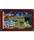RugStudio presents Fun Rugs Olive Kids Camp Fire Friends OLK-058 Multi Machine Woven, Good Quality Area Rug