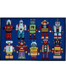 RugStudio presents Fun Rugs Olive Kids Go Robots OLK-059 Multi Machine Woven, Good Quality Area Rug