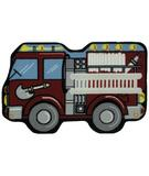 RugStudio presents Fun Rugs Fun Time Shape Fire Engine QLTS-116 Multi Machine Woven, Good Quality Area Rug