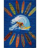 RugStudio presents Fun Rugs Surf Time Surfer Dude ST-21 Multi Area Rug