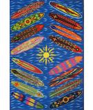 RugStudio presents Fun Rugs Surf Time Go Surfing ST-22 Multi Machine Woven, Good Quality Area Rug
