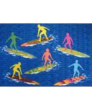 RugStudio presents Fun Rugs Surf Time Surfs 'R Us ST-23 Multi Machine Woven, Good Quality Area Rug