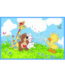 RugStudio presents Fun Rugs Little Suzys Zoo Witzy Makes A Wish SUZ-01 Machine Woven, Good Quality Area Rug