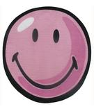 RugStudio presents Fun Rugs Smiley World Smiley Round SW-12 Pink Machine Woven, Good Quality Area Rug