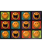 RugStudio presents Fun Rugs Smiley World Happy and Smiling SW-13 Multi Machine Woven, Good Quality Area Rug