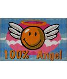 RugStudio presents Fun Rugs Smiley World Smiley Angel SW-14 Multi Machine Woven, Good Quality Area Rug