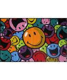 RugStudio presents Fun Rugs Smiley World Smiles and Laughs SW-15 Multi Machine Woven, Good Quality Area Rug
