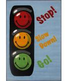 RugStudio presents Fun Rugs Smiley World Traffic Signal SW-16 Multi Machine Woven, Good Quality Area Rug
